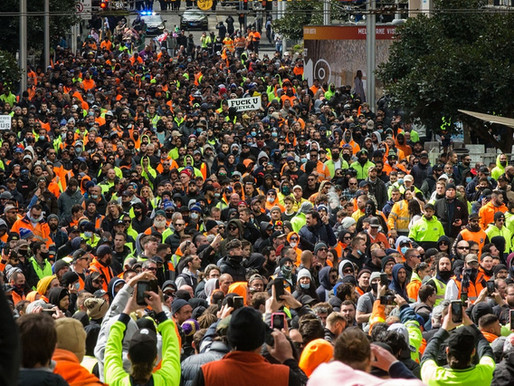 I work at a union and here's what we heard about the tradie protests