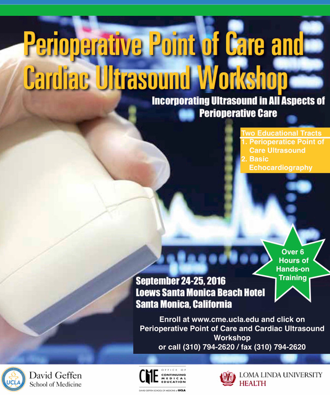 Perioperative Point of Care and Cardiac Ultrasound Workshop