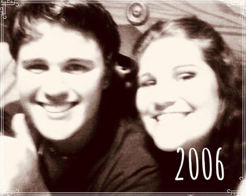 Gordon Sill and Jessica Davis (Breske) at Hacienda Mexican Restaurant, Mishawaka, Indiana, 2006