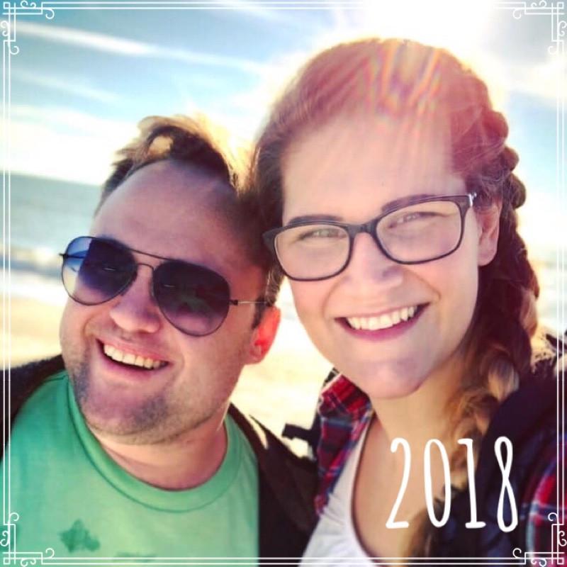 Gordon Sill and Jessica Davis, December 2018, Anna Maria, Florida