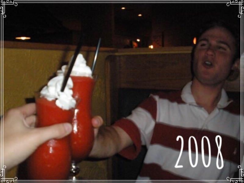 Jessica Davis (Breske) and Gordon Sill at Hacienda Mexican Restaurant, Mishawaka, Indiana, 2008