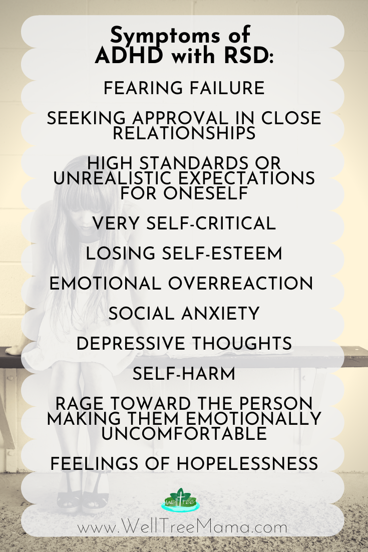 symptoms of ADHD with RSD