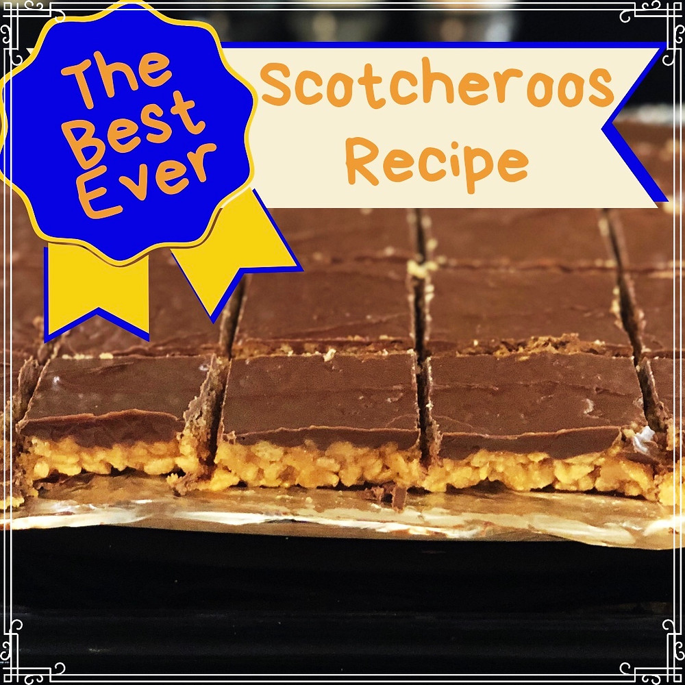 The Best Ever Scotcheroos Recipe by WellTree Mama, photograph of delicious peanut butter maple scotcheroos