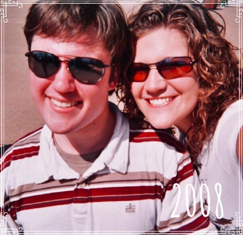 Gordon Sill and Jessica Davis (Breske) in Nashville, Tennessee,  2008