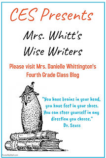 Picture of flyer for 4th grade blog