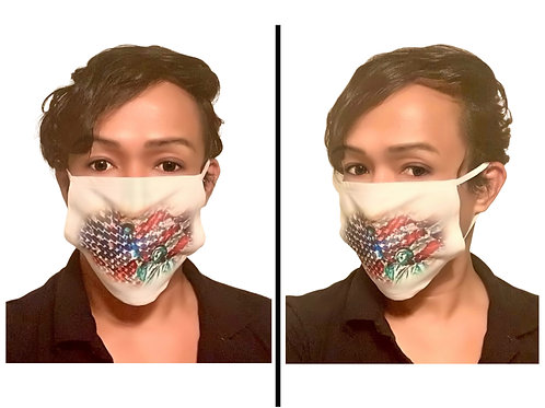 Freedom - Protective Mask (White Border)