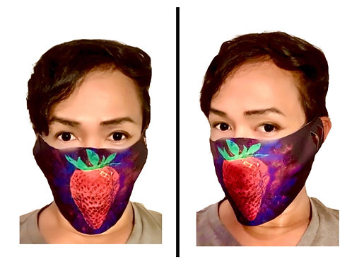 Strawberry Psychedelic - Protective Mask (Unibody)