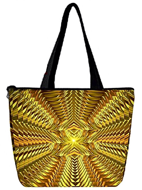 'Golden Rule' Poly-Nylon Zippered Purse/Bag