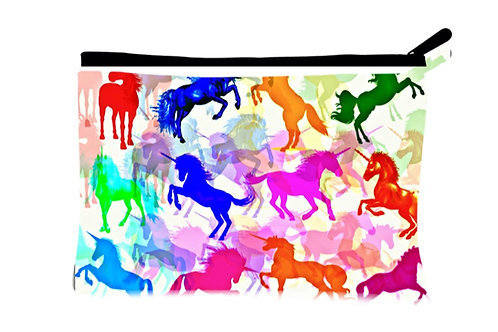 'Unicorns Unite' Poly-Nylon Zippered Pouch
