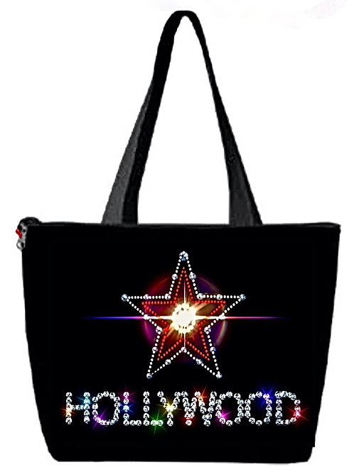'Hollywood' Poly-Nylon Zippered Purse/Bag