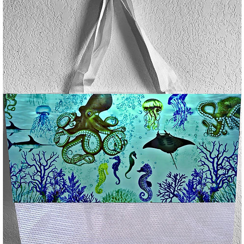 'Aquatic World' Beach Bag
