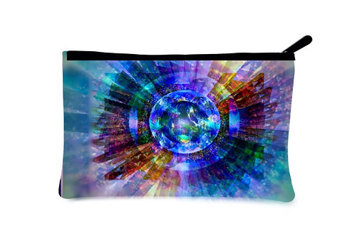 'Bliss' Canvas Zippered Pouch