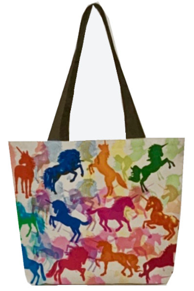 'Unicorns Unite' Poly-Nylon Tote Bag