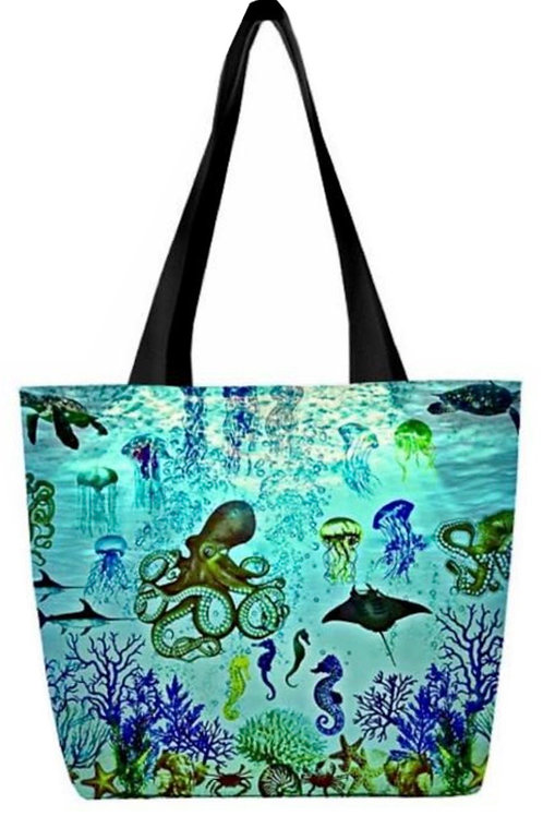 'Aquatic World' Canvas Tote Bag