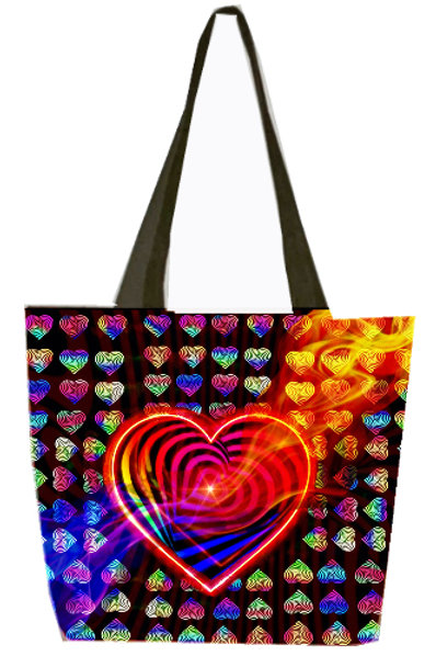 'Love Conquers' Poly-Nylon Tote Bag