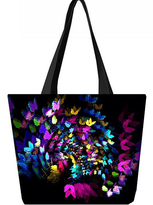 'Flutter' Poly-Nylon Tote Bag