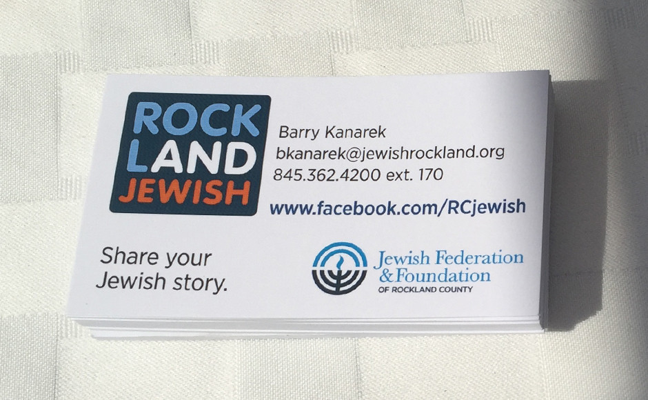 Federation business cards co-branded with Rockland and Jewish