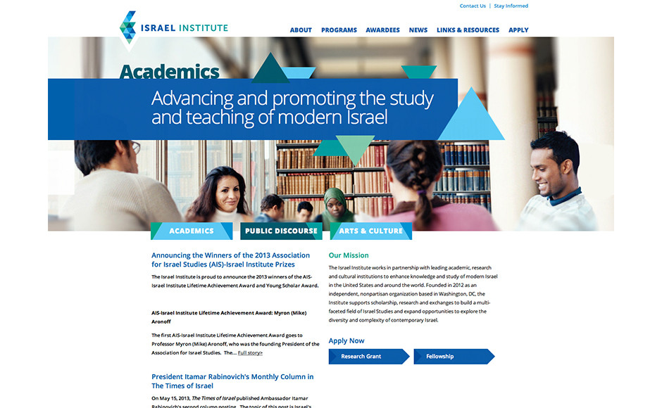 Website secondary page