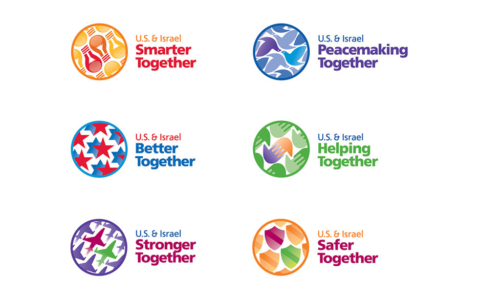 Icons developed for conference brand and five sub-brands