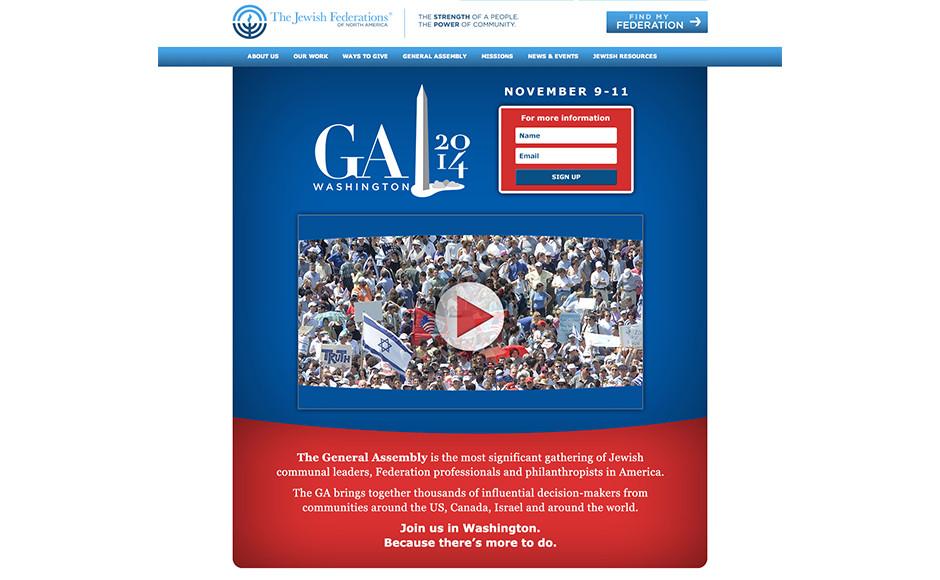 Web landing page for event registration
