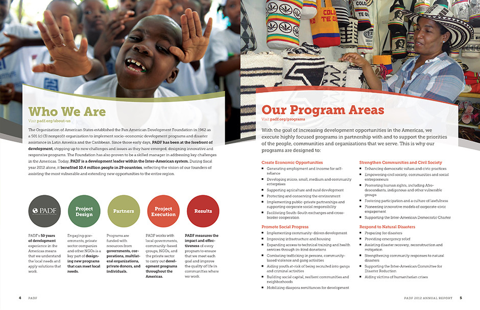 2012 Annual Report spread