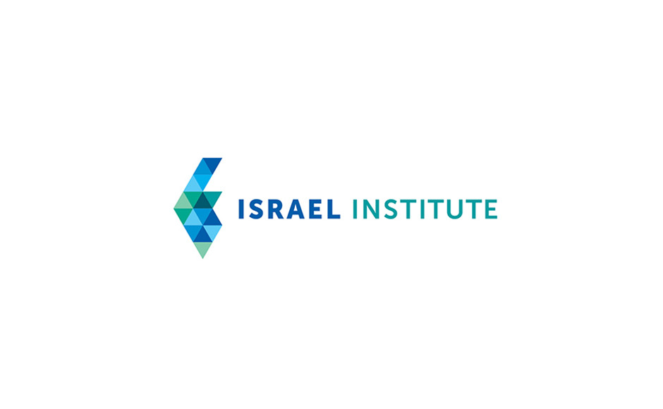 Logo features triangles in the shape of Israel
