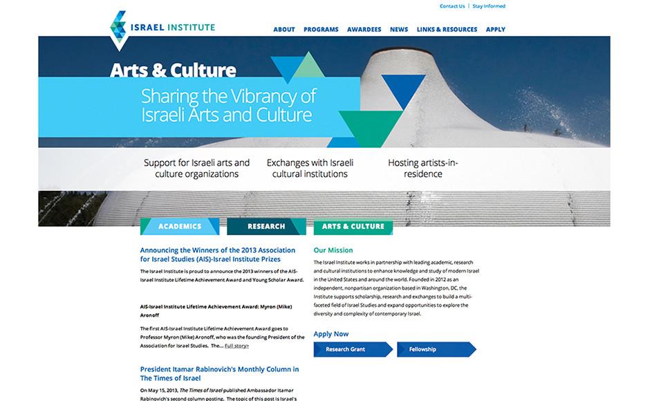 Website design features vibrant colors