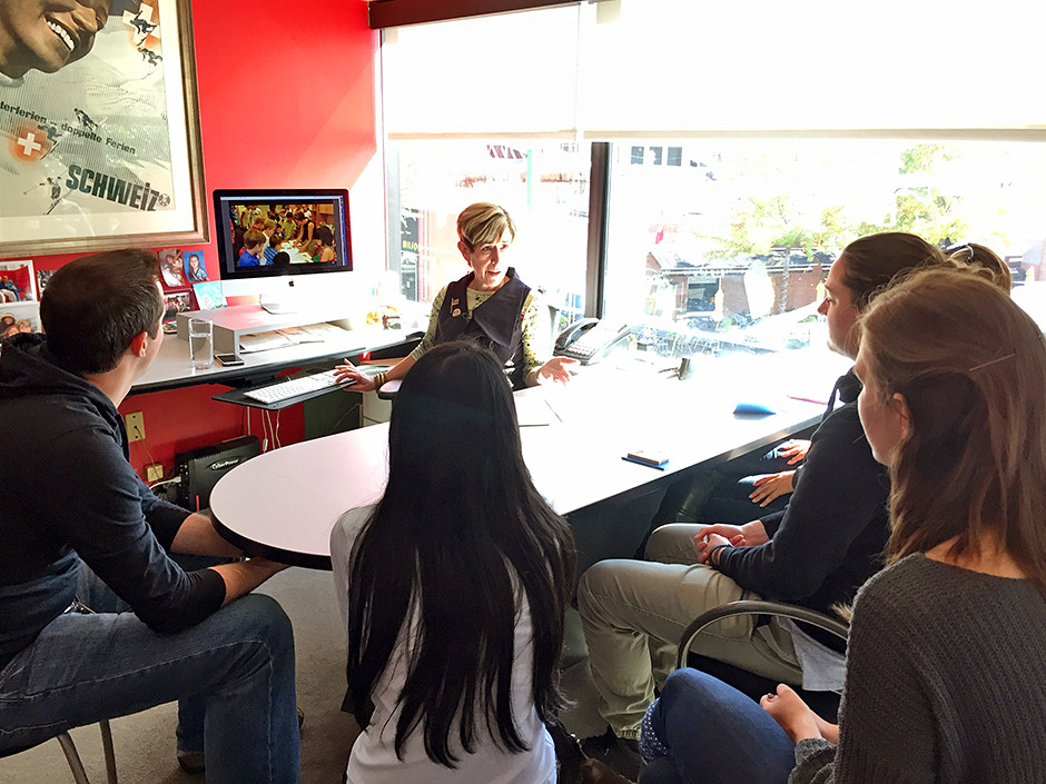 A visit from our AIGA colleagues