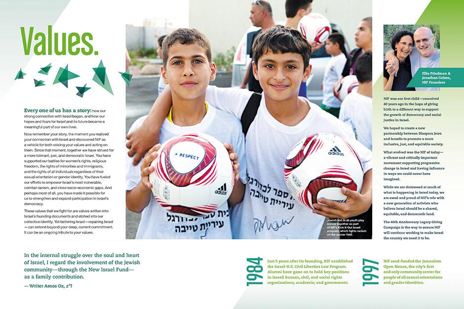 Planned giving brochure spread