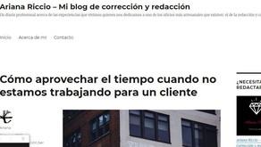 Mi nuevo blog sobre corrección y redacción de textos