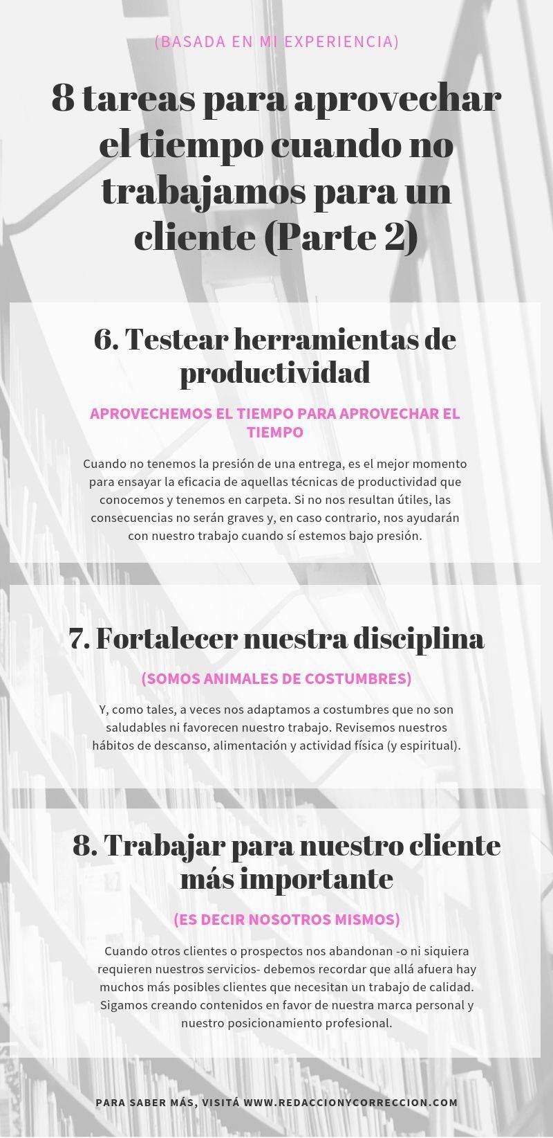 8 tareas para aprovechar el tiempo cuando no estamos trabajando para un cliente (Parte 2)