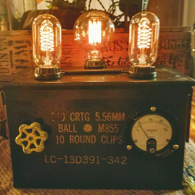 Ammo Crate with valve handle dimmer and