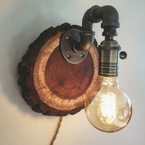 """Rustic Sconce"""