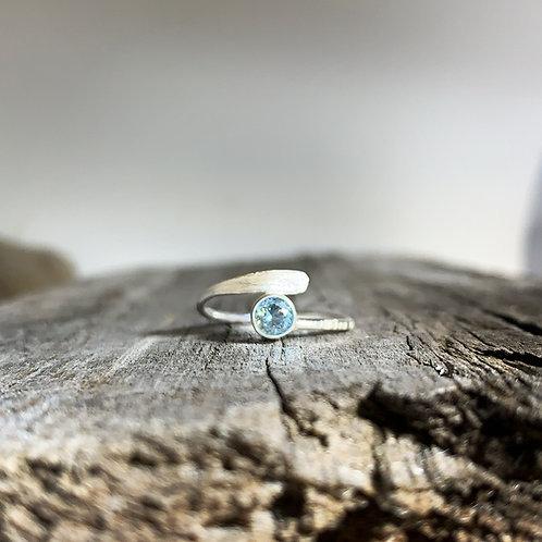Wrap Around Aquamarine Ring