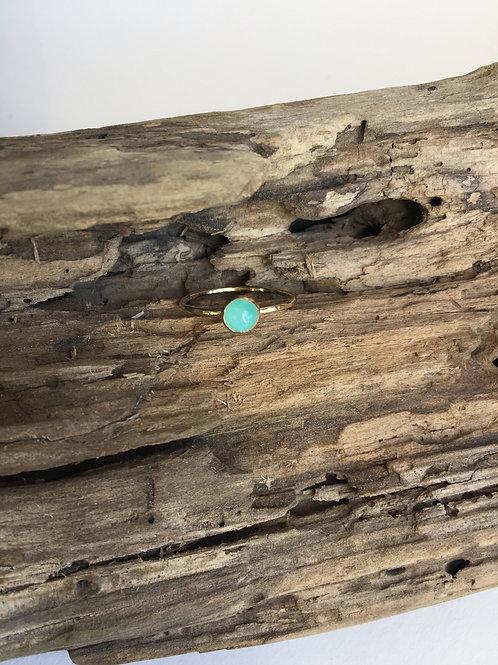 Amazonite ring in Goldfill