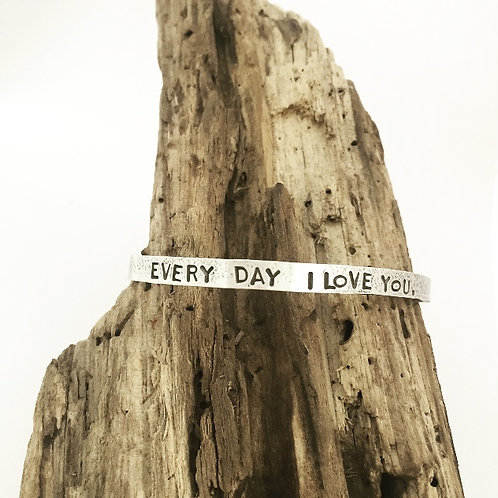 """Every Day..."" Poetry Cuff"