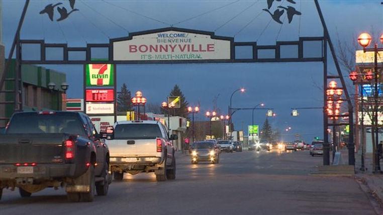 Main street Bonnyville Alberta