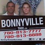 Tass and Wendy, owners of Bonnyville Taxi.