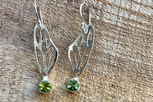 Fairy Wing Earrings with Peridot