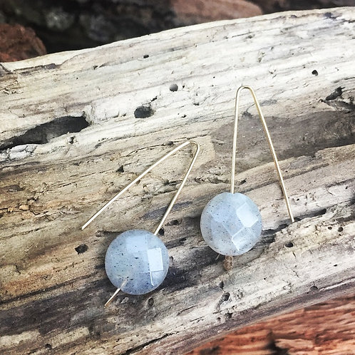 Labradorites on Gold fill Earrings