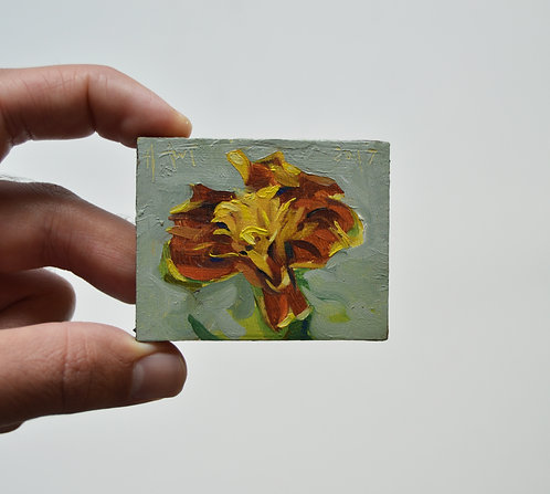Marigold Magnet Oil Painting