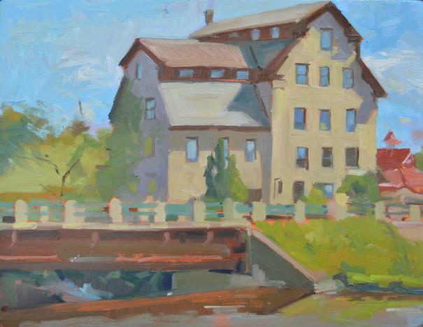 "Cedarburg Mill 11"" x 14"" 2021 Framed in Maple Float Frame"