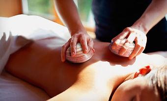 massage californien, coquillages.