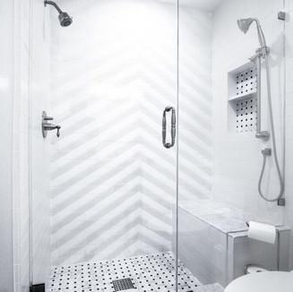 Lunada Bay concrete shower installation
