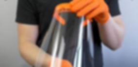 Visière en pvc, impression 3D, pour se protéger des goutelettes