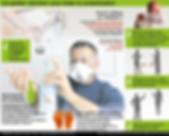 Infographie de Ouest France : les gestes barrières pour éviter la contamination