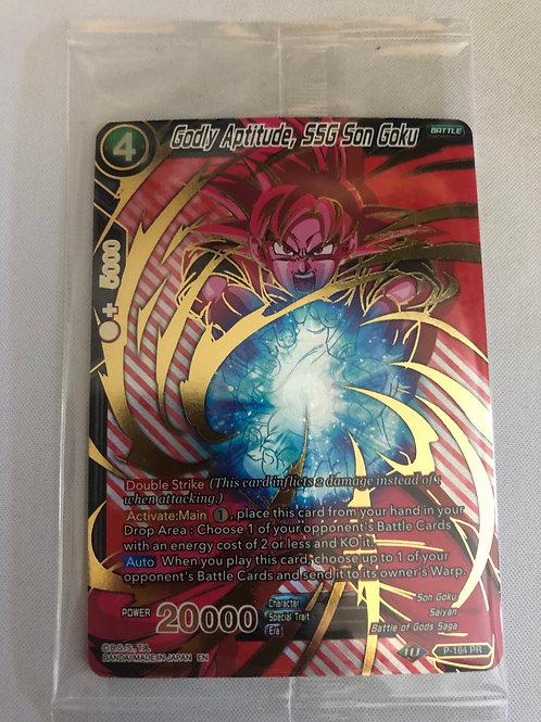 Godly Aptitude, SSG Son Goku  - P-164 - Dragon Ball Super TCG  - Mint
