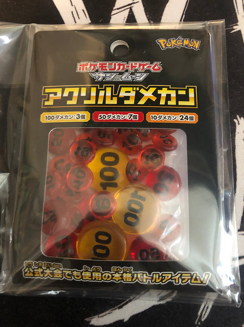 Official Pokemon Center - Acrylic Damage Token Counters