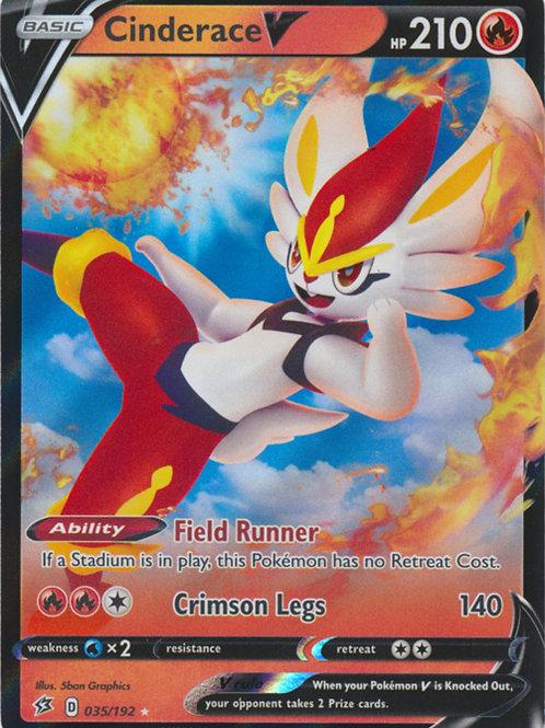 Cinderace V 035/192 - Half Art - SWSH Rebel Clash - Pokemon