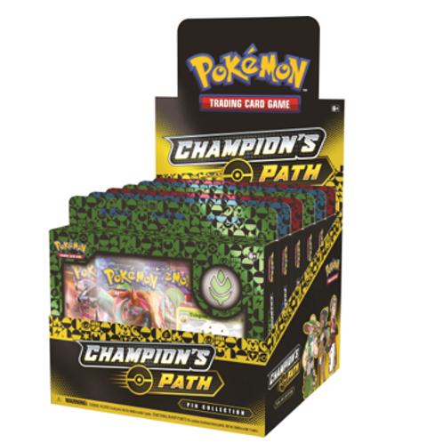Pokemon Champions Path - Display of Turffield, Hulbury, And Motostoke Pin Boxes